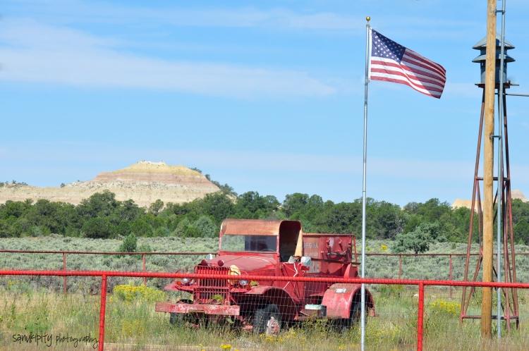 rustic firetruck