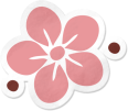 Cupcake-Flower-Sticker