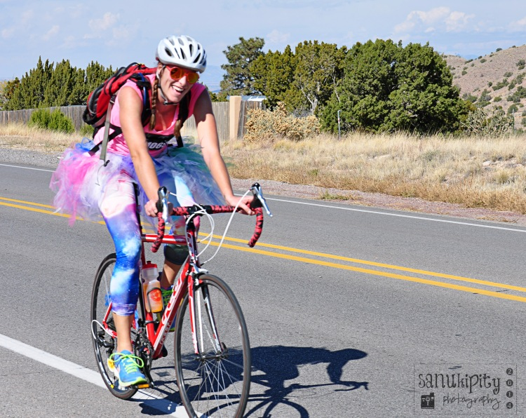 all smiles, dress up, bicycle, Day of the Tread