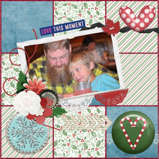 Josh and Moe, scrapbooking