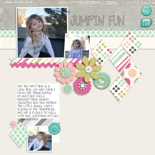 cousins, digital scrapbooking
