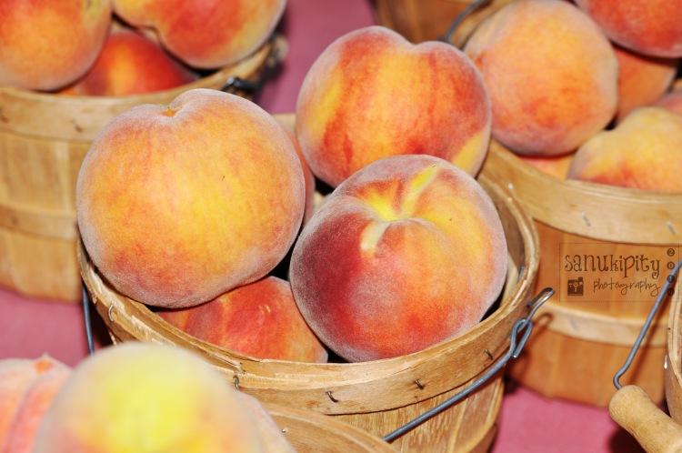 summer days, peaches, fruit, food
