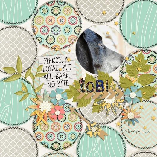 dogs, family pets, digital scrapbooking, Tobi