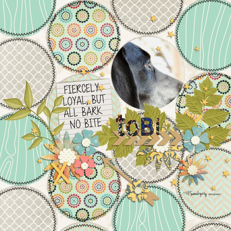 dogs, family pets, digital scrapbooking, Tobi
