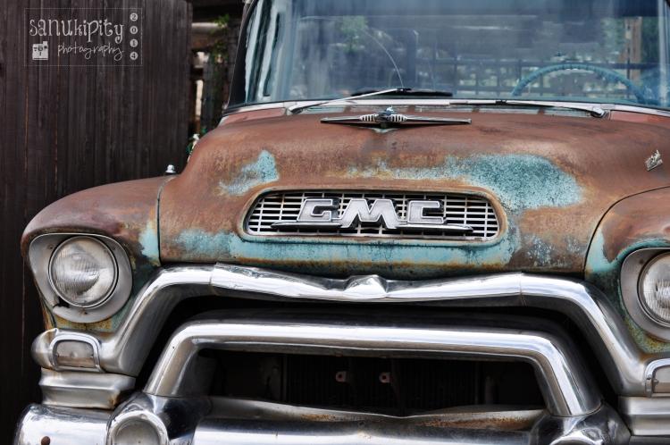 travel, GMC, rusty car