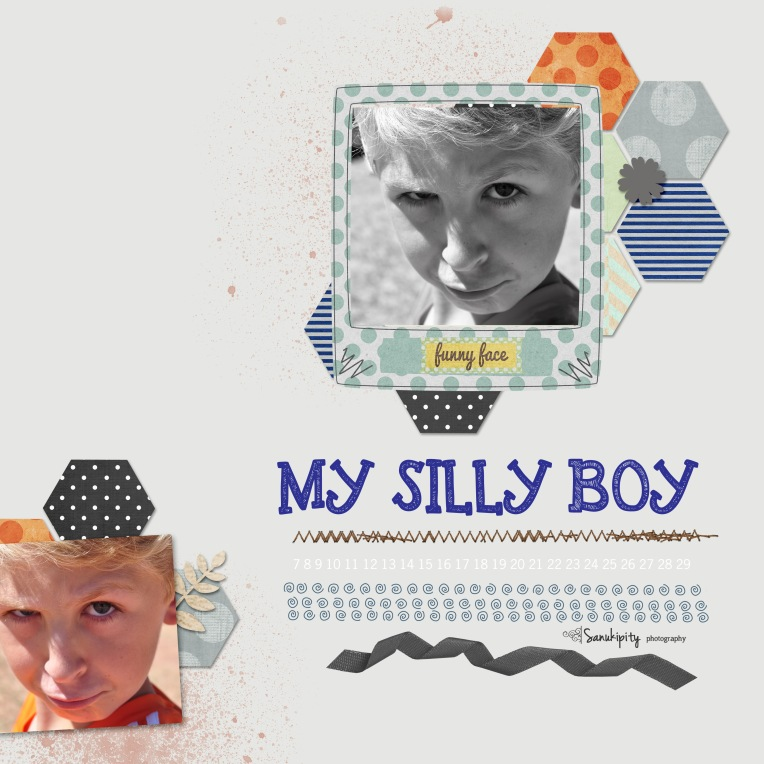 Mr B, digital scrapbooking