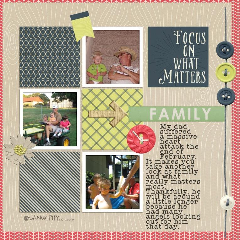 family matters, papa, family, digital scrapbooking