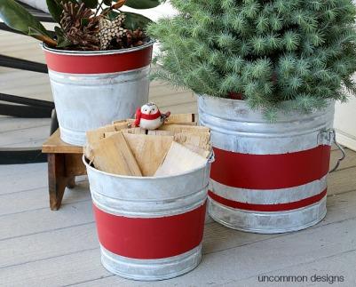 aged-striped-galvanized-buckets-uncommon-designs
